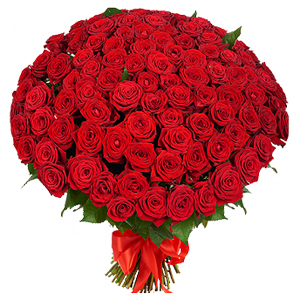 Buchet din 101 de trandafiri rosii